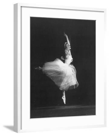 "Soviet Ballerina Galina Ulanova Dancing in Title Roll of Ballet ""Giselle"" at the Bolshoi Theater"