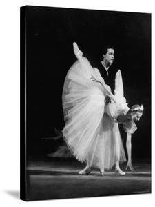 "Soviet Ballerina Galina Ulanova Performing in Ballet ""Giselle"" at the Bolshoi Theater by Howard Sochurek"