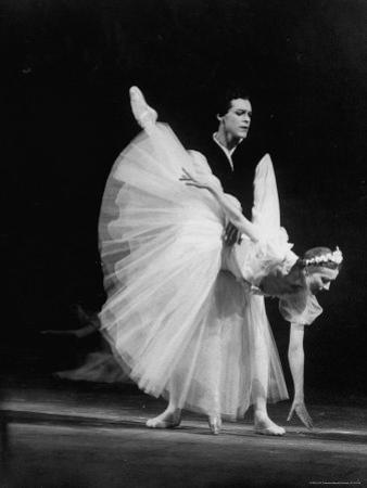 """Soviet Ballerina Galina Ulanova Performing in Ballet """"Giselle"""" at the Bolshoi Theater"""