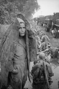 Unidentified Troops Leaving Hanoi, Vietnam, 1954 by Howard Sochurek