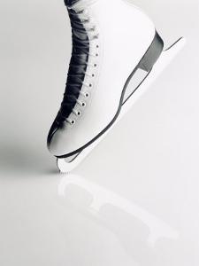 Black and White Image of Figure Skater's Skate by Howard Sokol