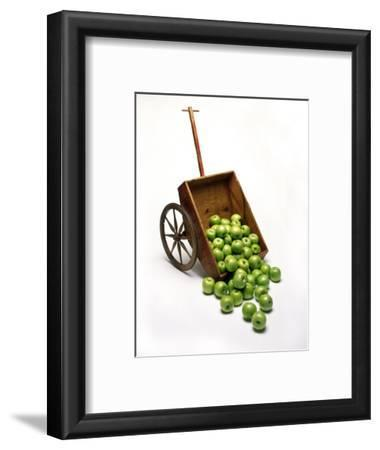 Cart with Apples Spilling Out