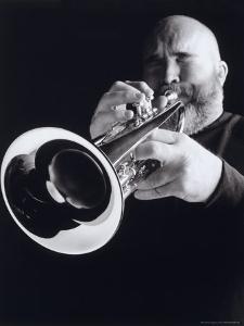Man Blowing Trumpet by Howard Sokol
