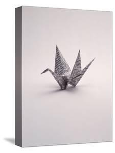 Origami Crane on White by Howard Sokol