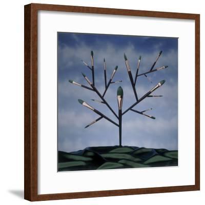 Paint Brush Art Tree