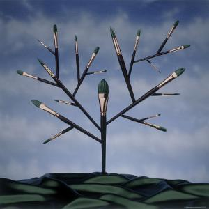 Paint Brush Art Tree by Howard Sokol