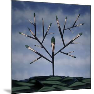 Paint Brush Art Tree by Howard Sokol