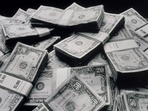 Pile of American Money by Howard Sokol