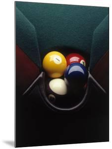 Pool Balls in Corner Pocket by Howard Sokol