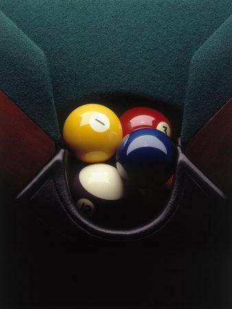 Pool Balls in Corner Pocket
