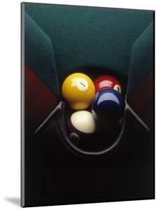Pool Balls in Corner Pocket by Howard Sokol