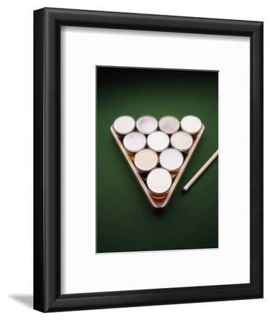 Pool Triangle with Beer Glasses