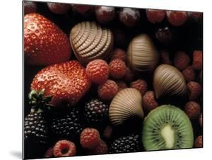 Strawberries, Raspberries and Kiwis by Howard Sokol