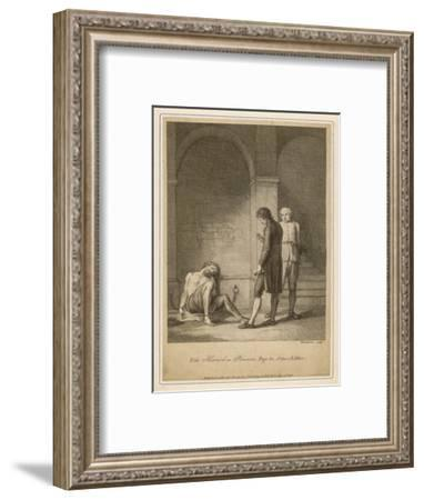 Howard Visits Prison--Framed Giclee Print