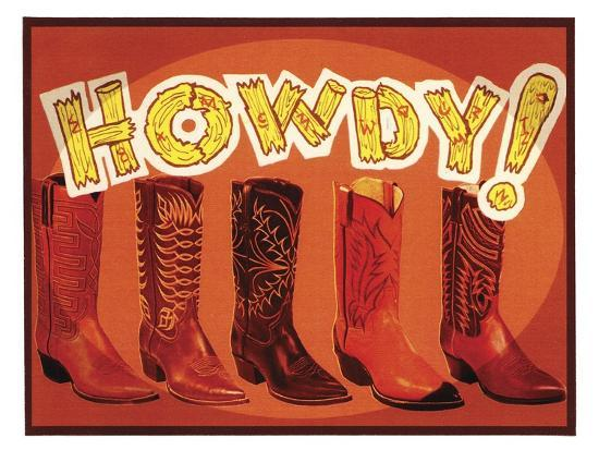 Howdy Boots-Tim Wright-Giclee Print