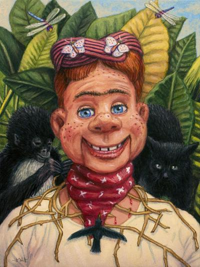 Howdy Frida Doody with Thorns-James W. Johnson-Giclee Print