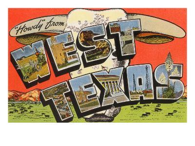 Howdy from West Texas--Art Print
