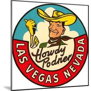 Howdy Podner Logo, Las Vegas, Nevada