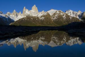 Cerro Fitzroy at Sunrise and Pothole Lake, Los Glaciares NP, Argentina by Howie Garber