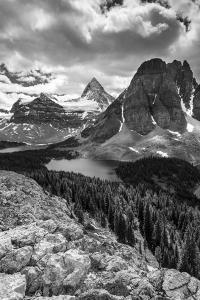 Mt. Assiniboine and Lake Magog from the Nublet by Howie Garber