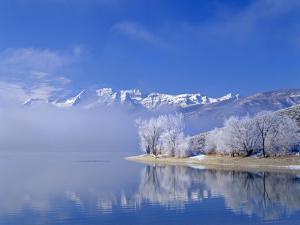Mt. Timpanogas, Deer Creek Reservoir, Wasatch Mountains, Utah by Howie Garber