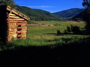 Old Log Homestead near Park City, Utah, USA by Howie Garber