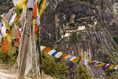 Prayer Flags Along Trail to Takshang Monastery (Tiger's Nest), Bhutan by Howie Garber