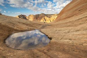 Sandstone Rock Candy Cliffs area, near St. George, Utah by Howie Garber