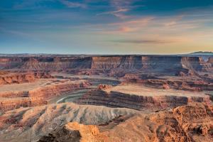 Sunset at Deadhorse Point SP, Colorado River and Canyonlands NP by Howie Garber
