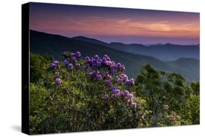 Sunset, Cowee Mountain Landscape, Blue Ridge Parkway, North Carolina