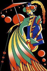 Art Deco Lady 4 by Howie Green