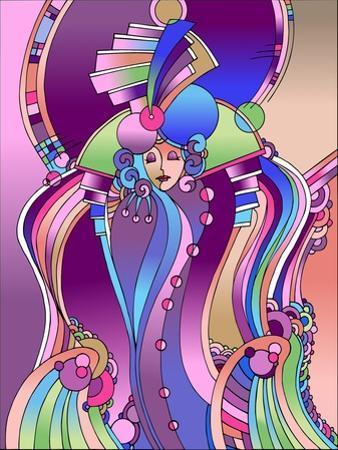 Art Deco Lady Bird by Howie Green