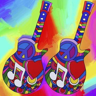 Guitars-Peace-Love-Music by Howie Green