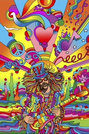 Hippie Musician 3 by Howie Green