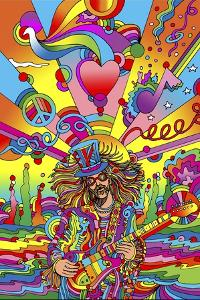 Hippie Musician 3 by Howie Green