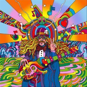 Hippie Musician by Howie Green
