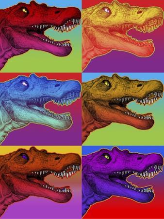 Pop Art Dinosaurs 2 by Howie Green