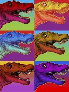 Pop Art Dinosaurs 2 by Howie Green