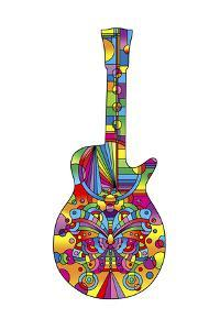 Pop Art Guitar Butterfly by Howie Green