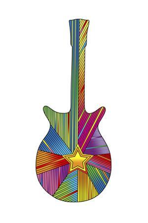 Pop Art Guitar Star by Howie Green