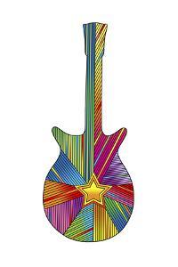 Pop Art Guitar Star by Howie Green