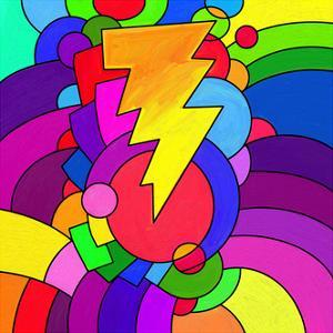 Pop Art Lightening Bolt by Howie Green