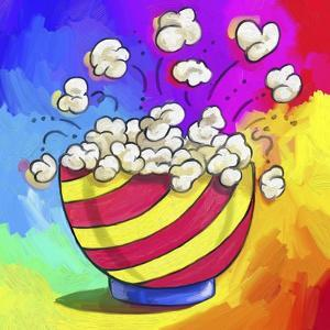 Pop-Art Popcorn Bowl by Howie Green