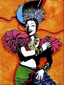 Pop Art Tutti Fruiti Lady by Howie Green