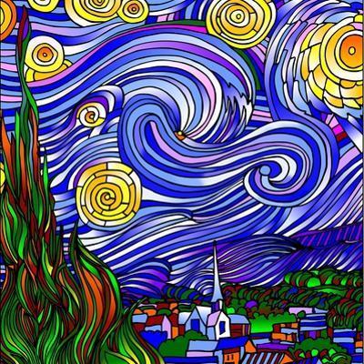 Starry Night 1 by Howie Green