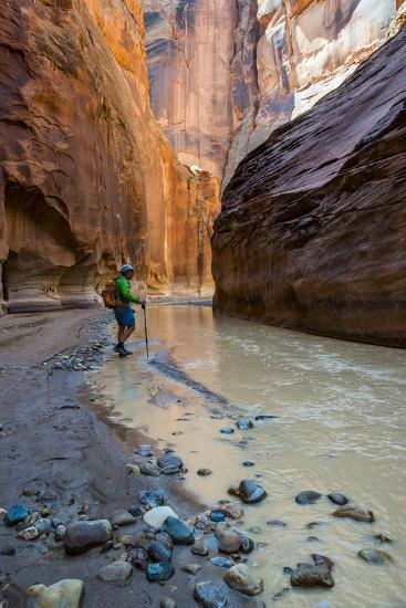 Howie Hiking in the Paria Canyon, Vermillion Cliffs Wilderness, Utah-Howie Garber-Photographic Print