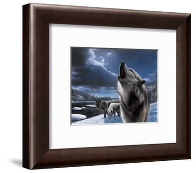 Howling Wolf-Kevin Daniel-Framed Art Print