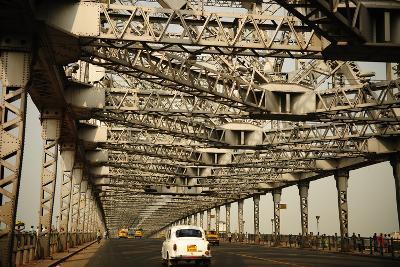 Howrah Bridge, Kolkata, West Bengal, India, Asia-Bhaskar Krishnamurthy-Photographic Print