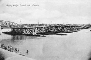 Howrah Bridge over the Hooghly River, Calcutta, India, Early 20th Century