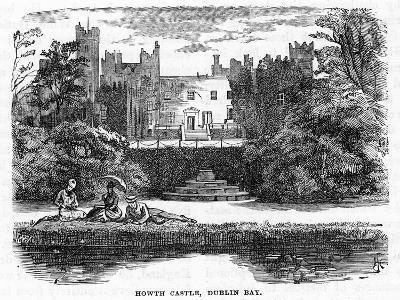 Howth Castle, Dublin Bay, 19th Century--Giclee Print